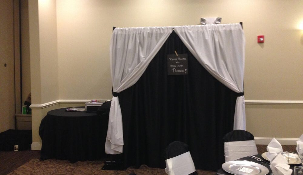 Traditional enclosed photo booth at a wedding in Lehigh Valley