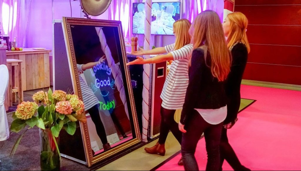 Celebrate your event with a magic mirror photo booth