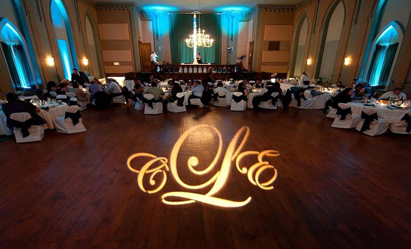 Monogram Projection to personalize the dance floor with your initials